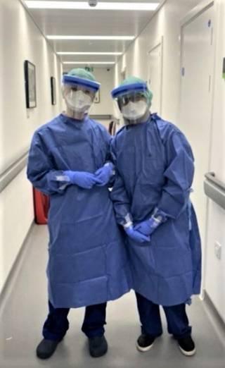 Eastman staff in PPE
