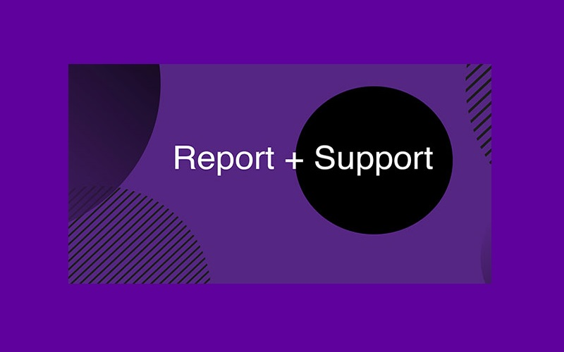 Report and Support graphic