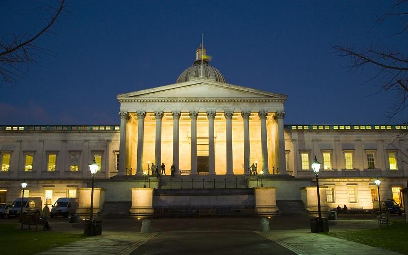 UCL quad at night