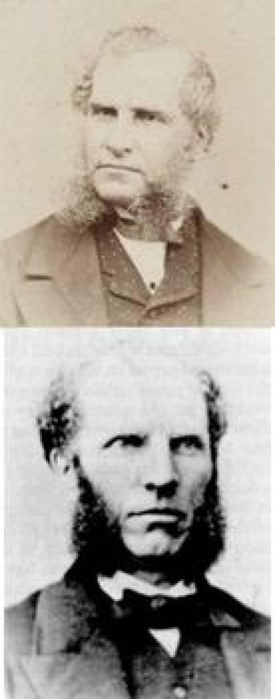Jacob Waley (top) and John Elliot Cairnes (bottom)