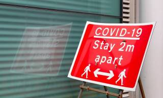 COVID-19 road sign