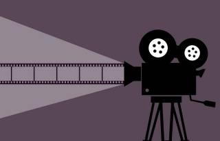 film reel infographic