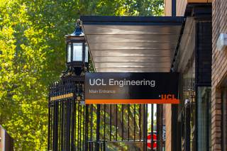 Entrance sign to UCL Engineering building