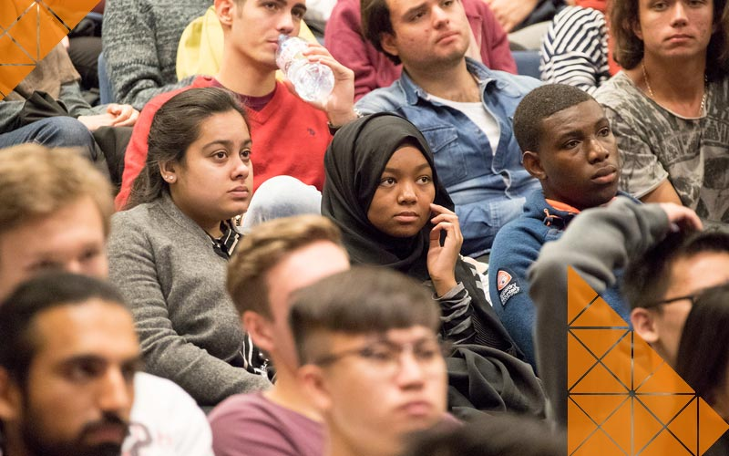 Students attend an Engineering lecture