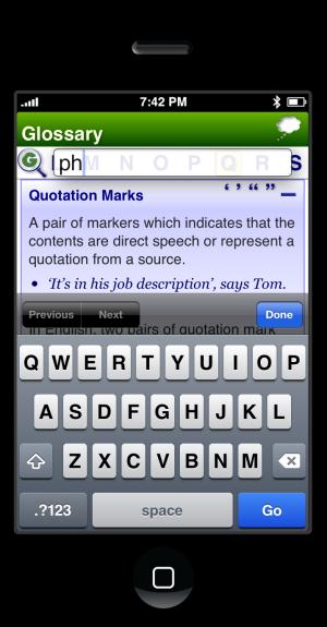 ESP App @ UCL Survey of English Usage