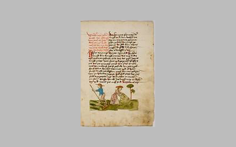 Papyrus sheet with writing