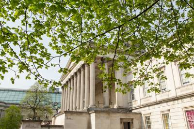 UCL Portico image with trees
