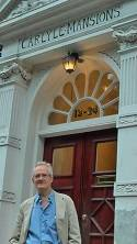 Philip Horne in front of HJ's last abode in Chelsea at 21 Carlyle Mansions