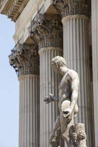 Portico Columns and Statue image