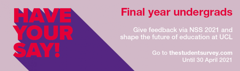 Banner link for NSS final year survey