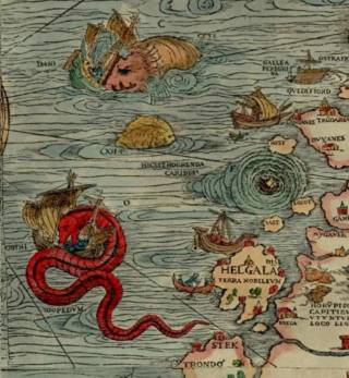Detail from Olaus Magnuss Carta Marina 1593
