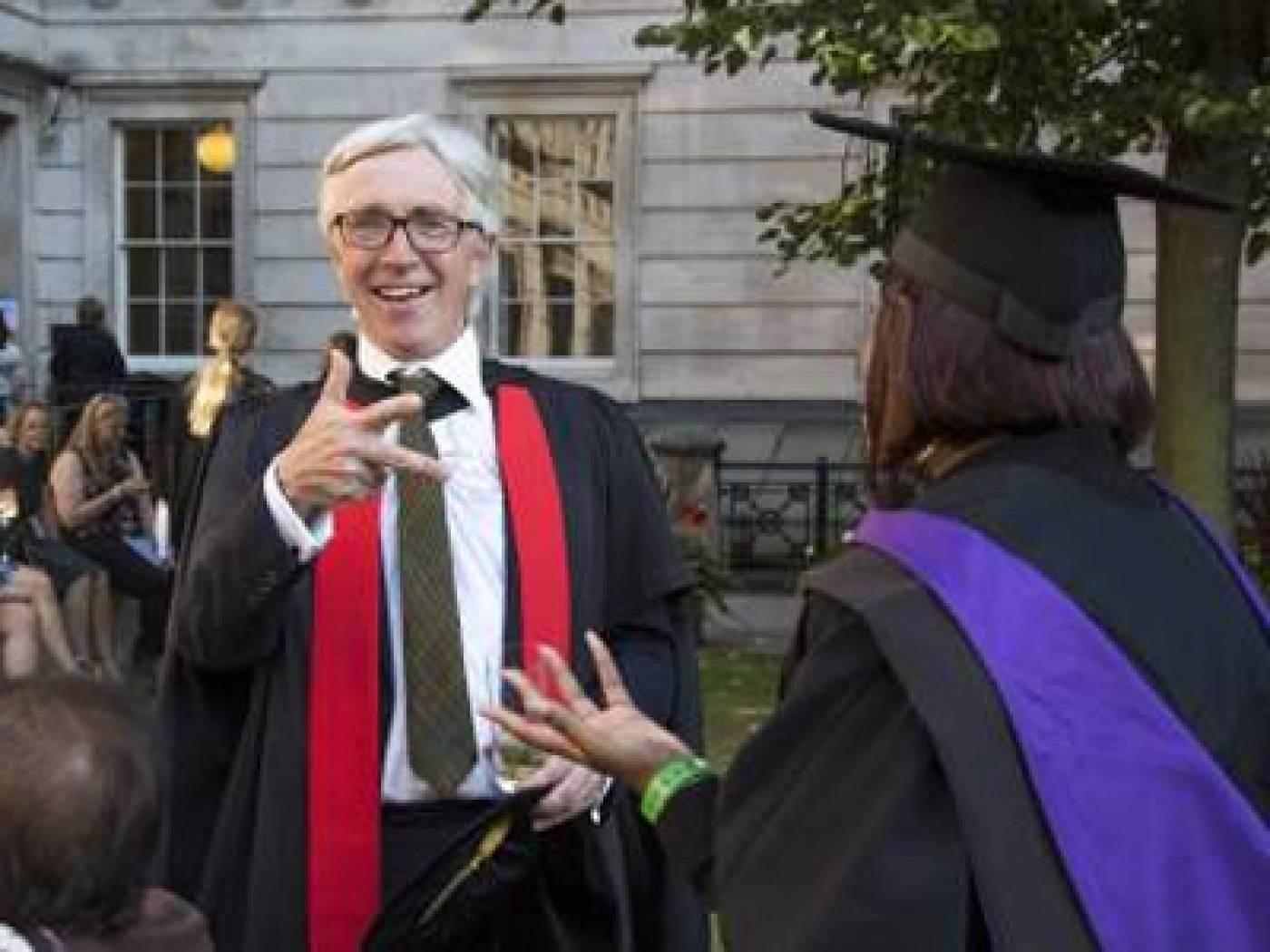 John Mullan at Graduation