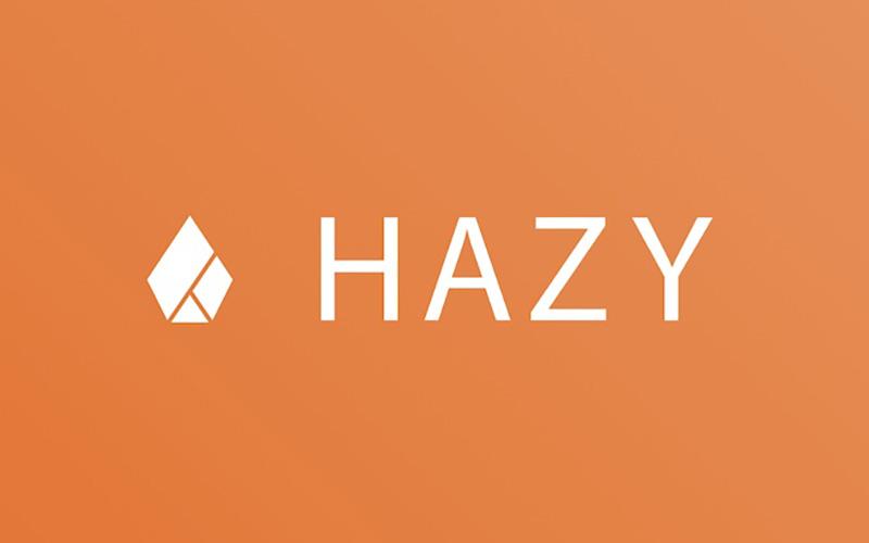 Hazy company logo