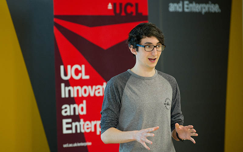 UCL student pitching for startup funding