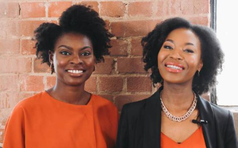 Joycelyn Mate and Rachael Twumasi-Corson, founders of Afrocenchix