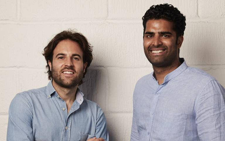 Diego Fanara and Kimeshan Naidoo, co-founders of Unibuddy