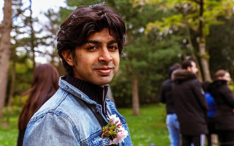 Zubair Junjunia UCL alumnus and cofounder of ZNotes
