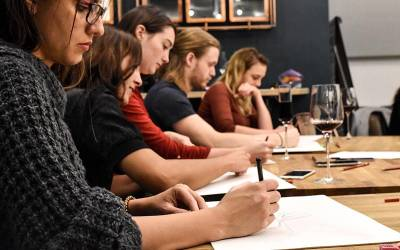 Life drawing class - an event organised by The Oblique Life