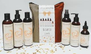 Selection of afro hair products by Afrocenchix