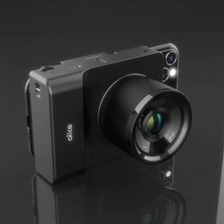 A black camera