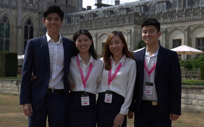 Kisum Chan, Julia Vannaxay, Vannie Koay and Lincoln Lee, founders of social enterprise SunRice