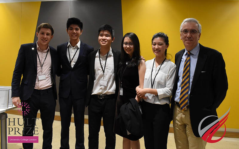 Winners of the The Hult Prize@UCL 2017