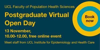 epidemiology-health-care virtual open day 2018