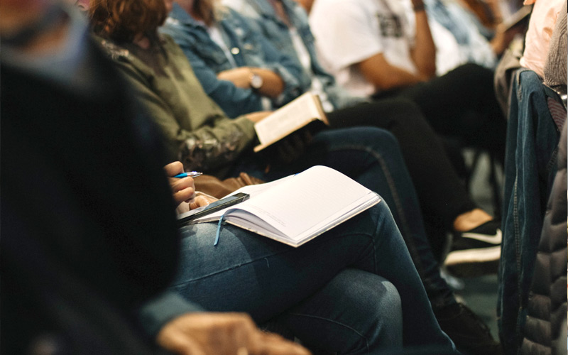 A group of students attending a lecture