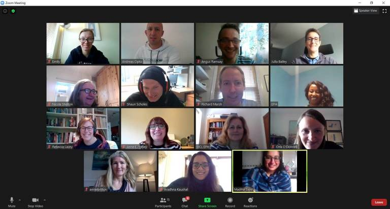 Photo of EAG group meeting online