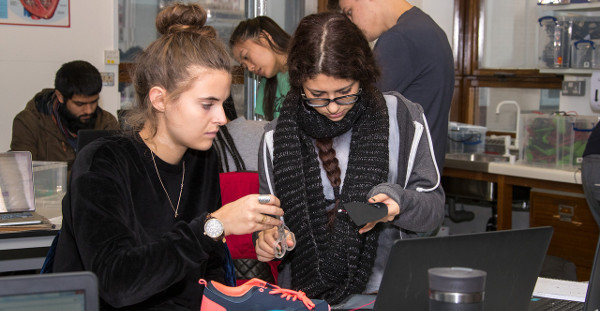 female students on computers