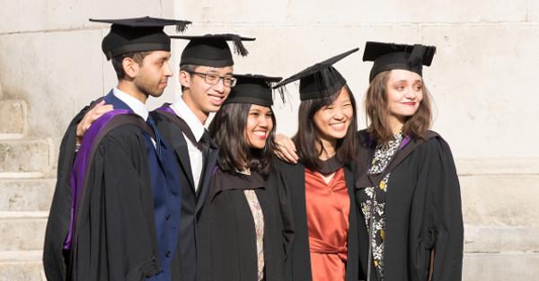 diverse students graduating