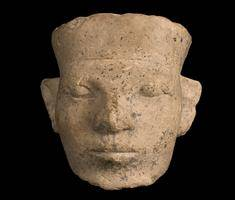 Limestone head of man