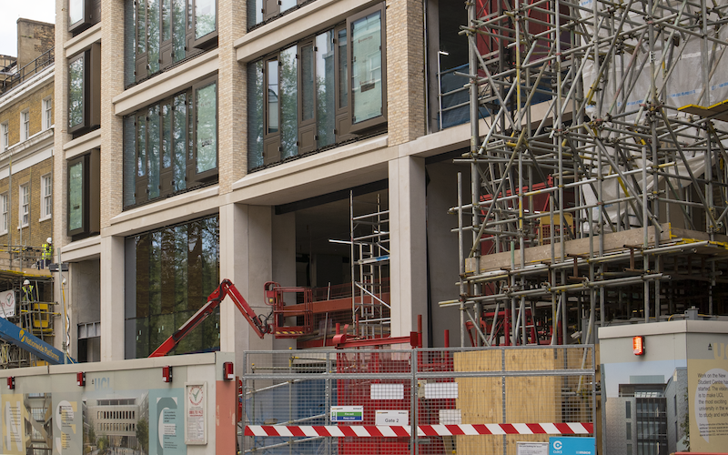 Ongoing construction at UCL image
