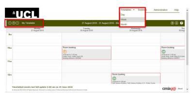 CMISgo Room Booking Screenshot
