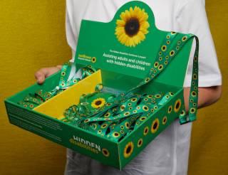 UCL Sunflower lanyard