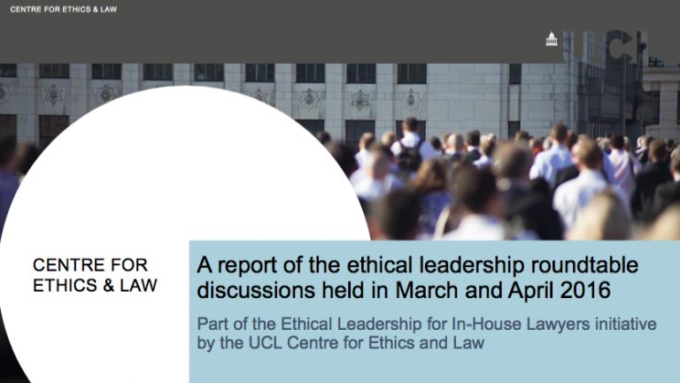 Ethical leadership roundtable