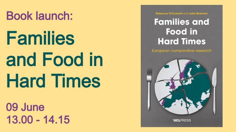 Book launch: Families and Food in Hard Times