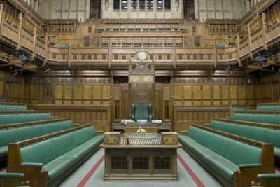 UK Parliament Chamber, empty