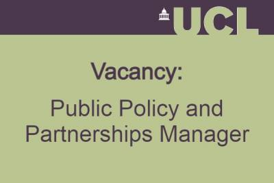 Vacancy: Public Policy and Partnerships Manager