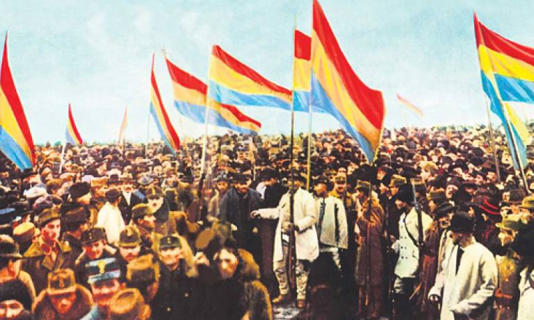 The Great National Assembly in Alba Iulia 01 December 1918