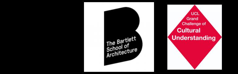 UCL European Institute Logo, Bartlette School of Architecture Logo, UCL Grand Challenges Cultural Understanding Logo