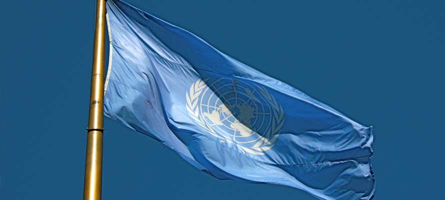 United Nations flag (Photo credit: Wikipedia)