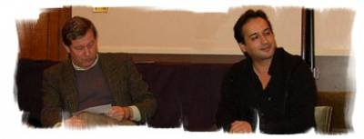 Hafid Bouazza on stage with Reinier Salverda