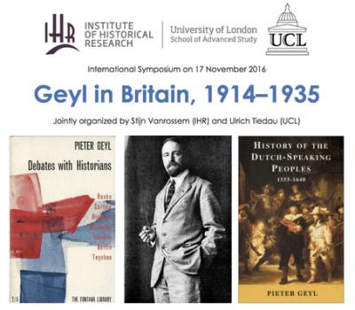 Geyl in Britain 1914-1935