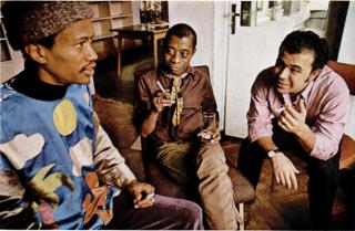 Don Cherry with James Baldwin, Ebony Magazine 1970
