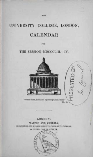 UCL calendar