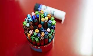 Pens in a pot