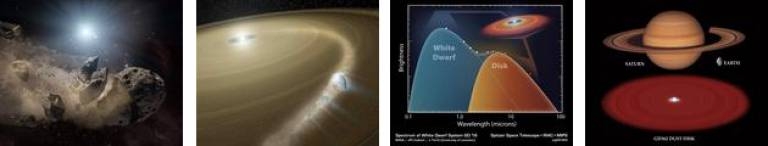 Planetary systems at white dwarfs