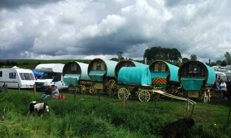 A palm reader's caravan at Appleby fair, by Damian Le Bas