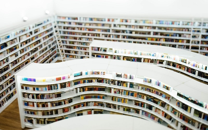 Aerial shot of a library